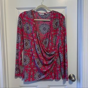 New York & Company pink wrap top